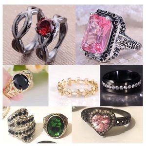 8x Wholesale Jewelry Size 9 Ring Set Boho Fashion